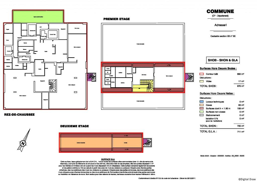 Calcul surface utile bureaux 28 images toutefois ces - Calcul surface habitable maison ...